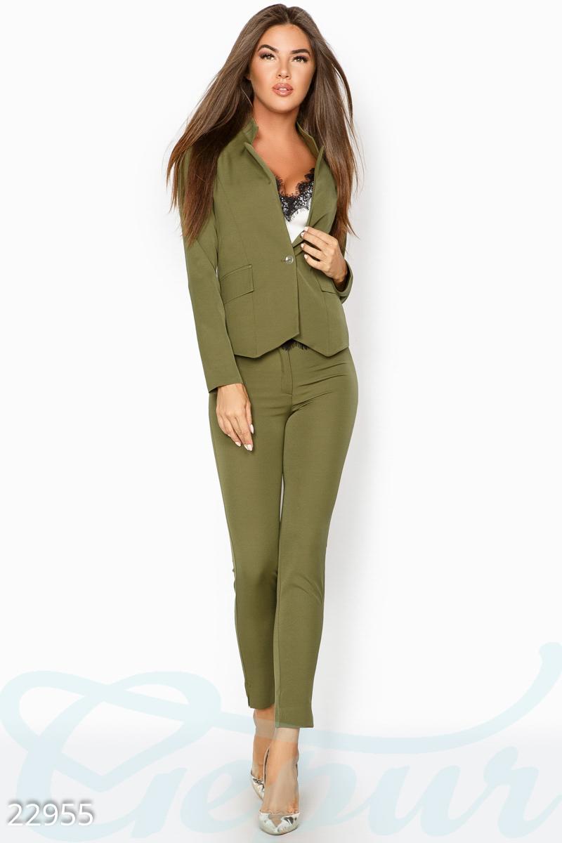 a3ff26d44e19 Женский деловой костюм (оливковый) - Товары - Заказать вещи через ...