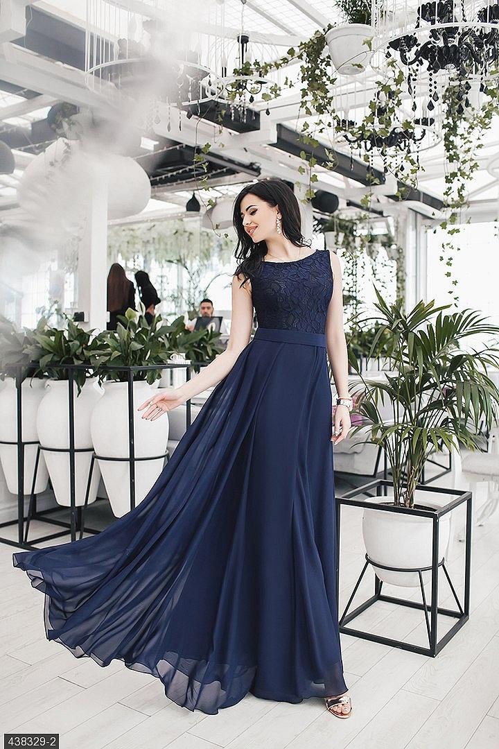 bcf8e864f92cd4 Платье 438329-2 темно-синий Весна-Лето 2018 Украина. loading... Наведите  курсор, чтобы увеличить