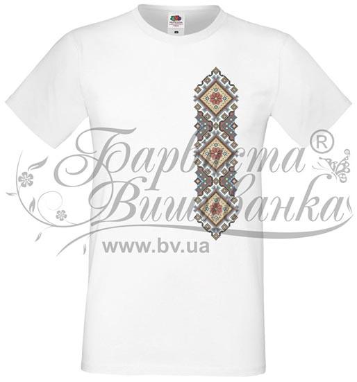 ФЧ-029 Футболка-вышиванка мужская напечатанная крестиком - Товары ... e7aa88230d943