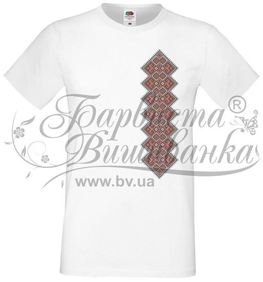 ФЧ-050 Футболка-вишиванка чоловіча друкована хрестиком - Товари ... 306a8cb8a9a13