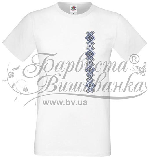 ФЧ-045 Футболка-вишиванка чоловіча друкована хрестиком - Товари ... 342909e0b0a30