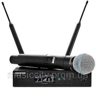 Shure QLXD24B58 цифрова радіосистема UHF з ручним суперкардіоїдним  мікрофоном bcda189489388