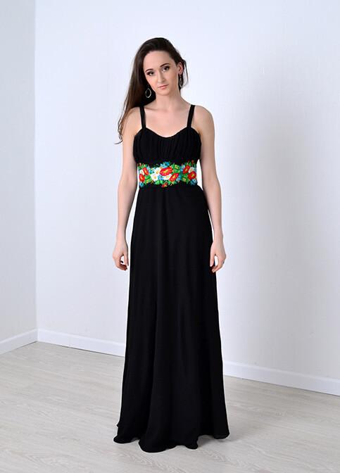 Довга шифонова сукня вишиванка ціна 6e5c0a7e00afc