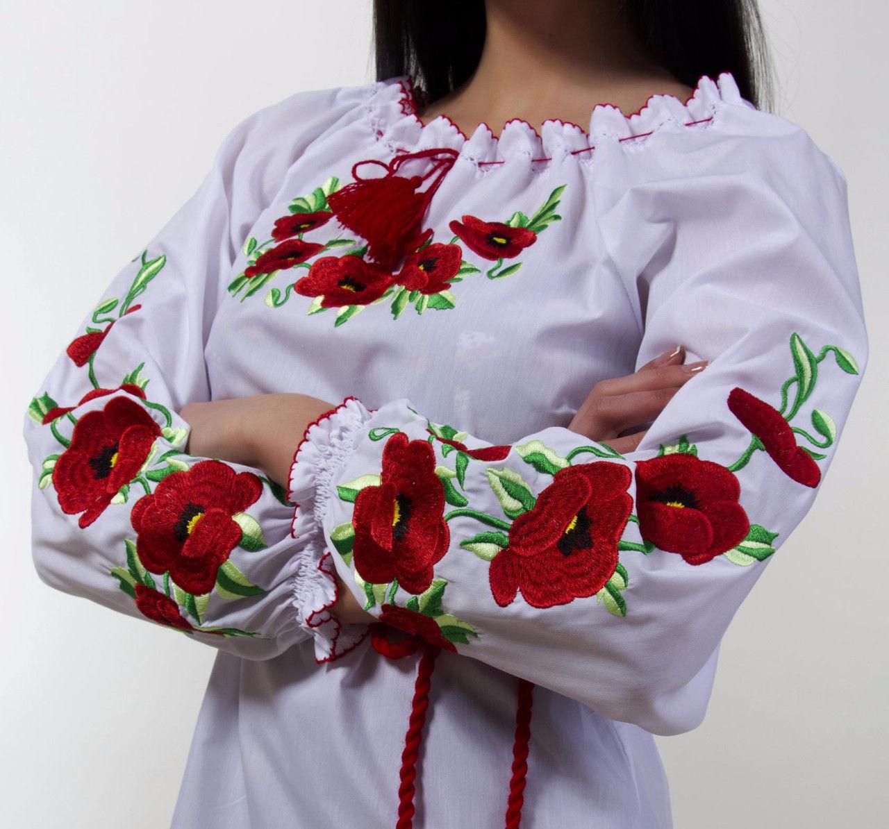 Сорочка вишиванка з маками є великі розміри - Товари - Жіночий одяг ... 5818cc73137c8