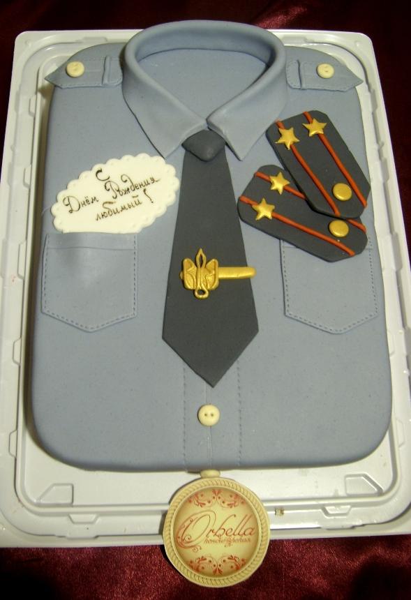 Торты на юбилей полковнику