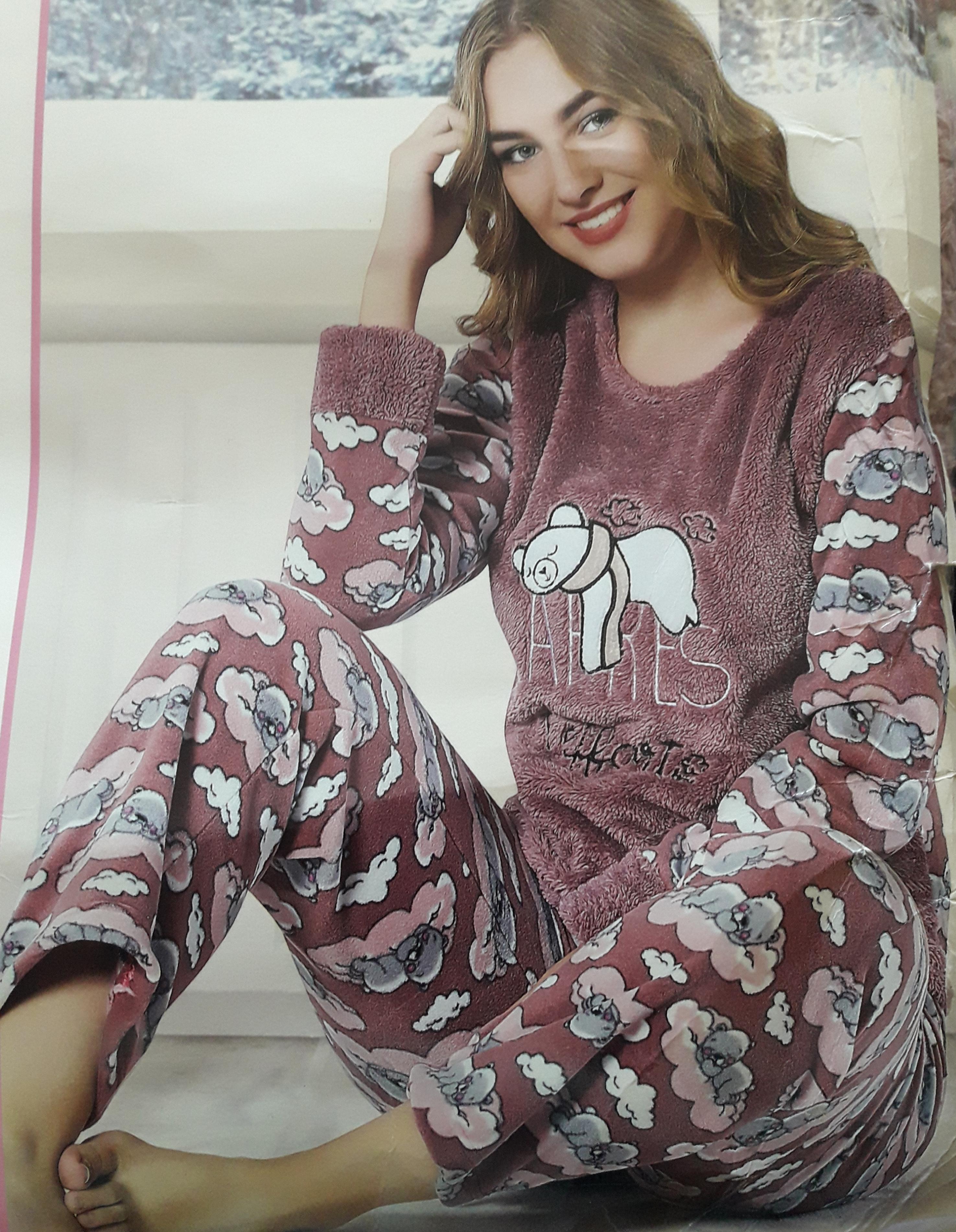 dd221747cafc5 Женская махровая пижама Турция 11301 цена, купить. Женская махровая ...