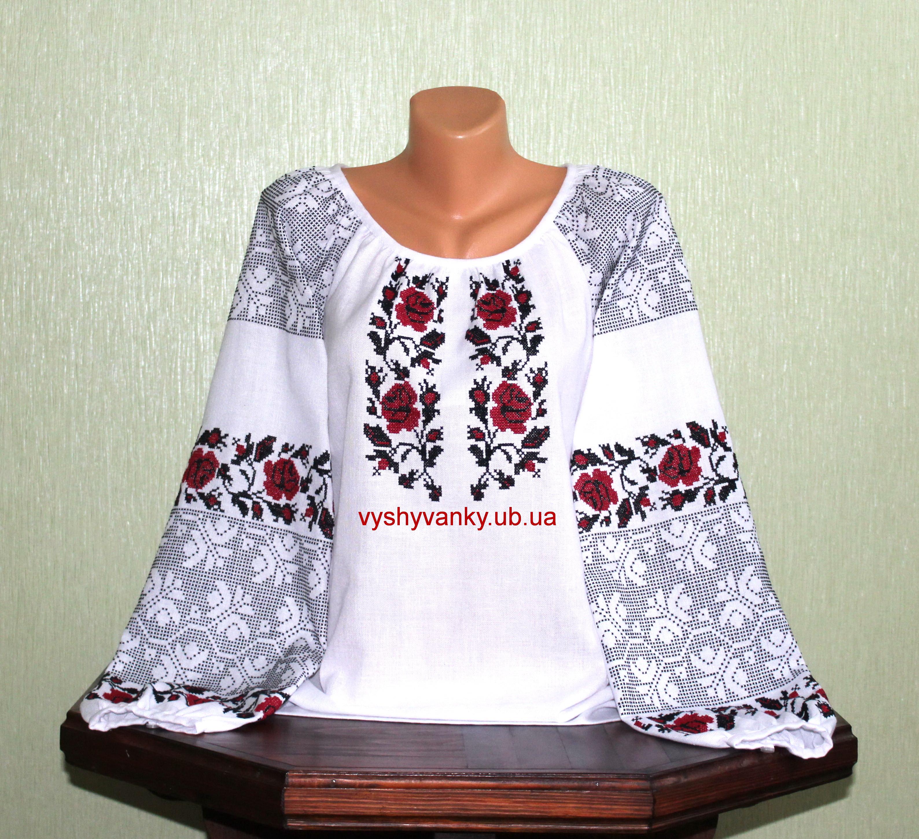 Українська вишита сорочка. Старовинний узір. Ручна робота., ціна 3 ...