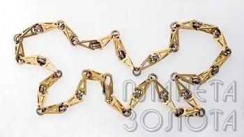 цепочка золотая плетение бисмарк цена