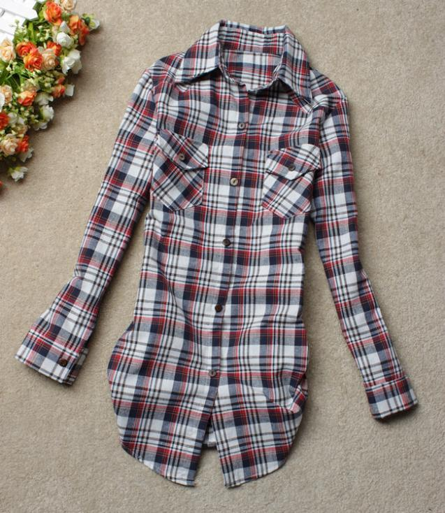 33be91a717fcbe9 Женские клетчатые рубашки - Товары - Купальники, блузки, платья ...