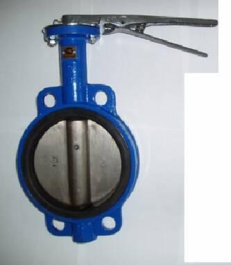 Затвор дисковый чугунный поворотный  Баттерфляй: диск из ковкого чугуна и нержавеющей стали