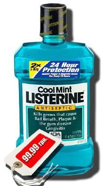 LISTERINE® Antiseptic Mouthwash 1.5L Cool Mint