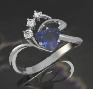 Купить кольцо белое золото, недорого (Киев)