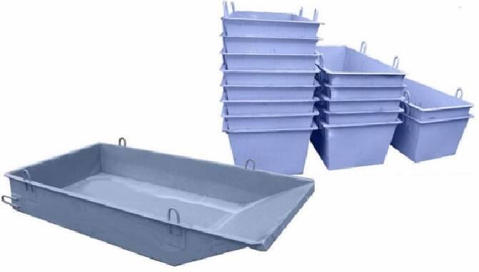 Залізні ящики для будівельних сумішей