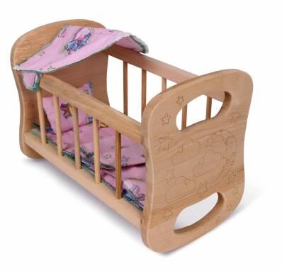 Ліжко для ляльки дерев'яне купити недорого