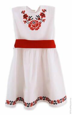 Вышитые платья для девочек купить по выгодной цене