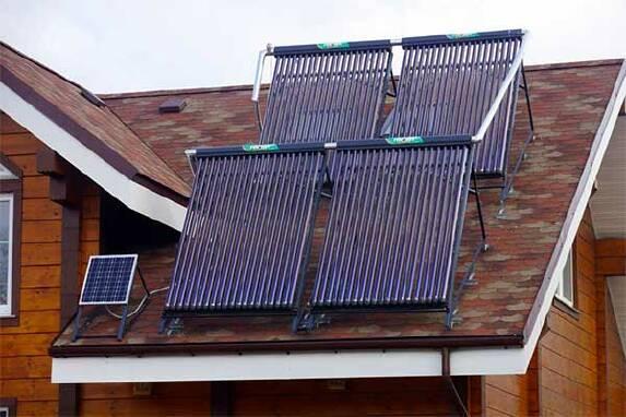 Продается система нагрева воды солнцем для отопления в доме