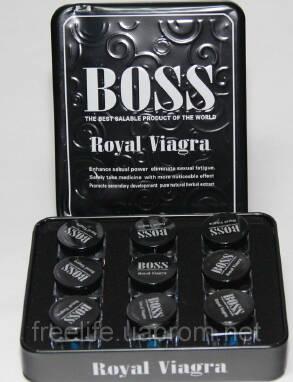 Таблетки для підвищення ерекції Boss Royal Viagra — швидкий ефект!