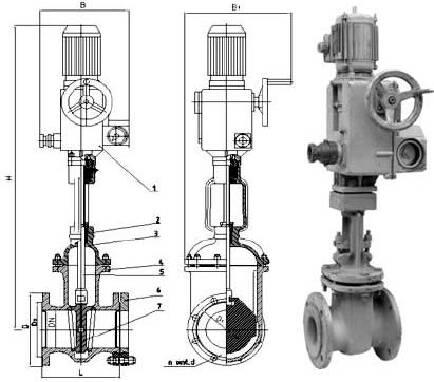 30с941нж засувка сталева РУ16 ДУ50-1000 під електропривід