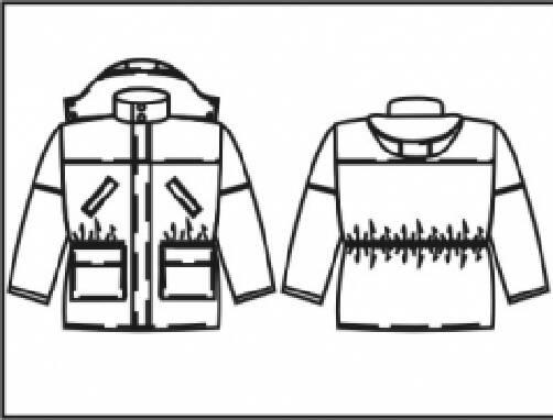 Пошив и продажа зимней спецодежды - куртка модель Z007 с капюшоном
