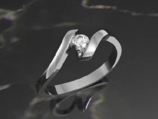 Кільця на заручини з одним діамантом — гарна класика!