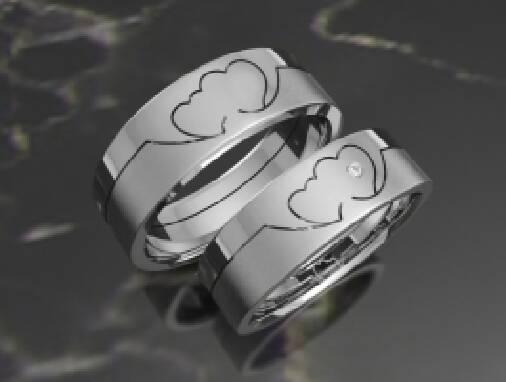 Обручальные кольца с бриллиантами в Киеве. Узнать цены