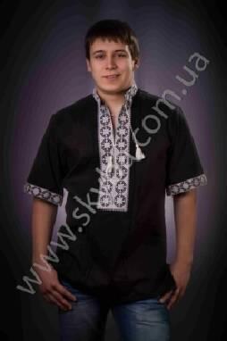 Черная мужская вышиванка должна быть в вашем гардеробе! Заказывайте!