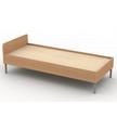 Ліжко односпальне на металокаркасі (мет.25х25х2)