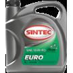 Масло моторное 15W-40, Sintec, EURO SJ/CF,   5л, минеральное
