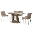 Стол обеденный ТМL-521-1 капучино+дуб