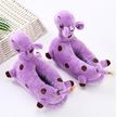 STK Детские тапочки- игрушки Жирафы фиолетовые