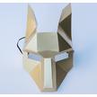 STK Маска Лиса papercraft золото