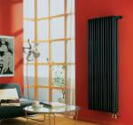 Вертикальные алюминиевые радиаторы как элемент интерьера