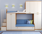Двоярусні ліжка з диваном внизу купити пропонує Smart Mebel!