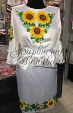 """Вишите плаття з соняшниками купуйте від компанії """"Барвиста вишиванка""""."""