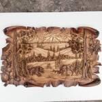 Розкішне дерев'яне панно доступне для замовлення