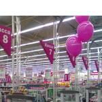 Кассовая зона супермаркета с использованием системы