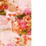 Бумага для упаковки, в цветы
