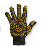 Перчатка рабочая уплотненная c точкой ПВХ, черная