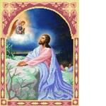 Схема для вышивки бисером Иисус на горе (фото)