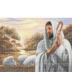 Схема для вышивки бисером Господь (фото)
