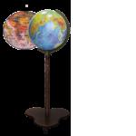 Фізично-політичний глобус з подвійною картою (фото)