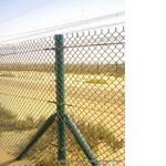 Забор усиленный из плетеной сетки