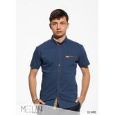 Мужская рубашка короткий рукав Влас темно синий