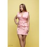 Женское платье большого размера Тамия розовый