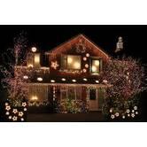 Світлове оформлення фасаду заміського будинку