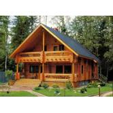 We construct wooden log houses, saunas, steam-baths