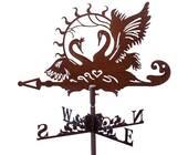 Флюгер на крышу с лебедями