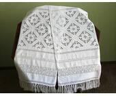 Рушник весільний білим по білому
