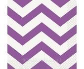 Бумажные салфетки Pretty Purple Chevron