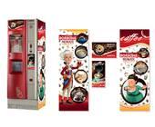 Брендированная наклейка на кофейный автомат Saeco Quarzo 500, красный